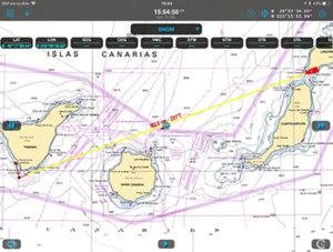 Navigation map Lanzarote Tenerife
