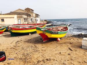 Mindelo colored boat